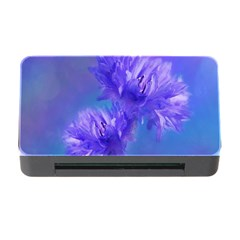 Flowers Cornflower Floral Chic Stylish Purple  Memory Card Reader With Cf