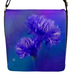 Flowers Cornflower Floral Chic Stylish Purple  Flap Messenger Bag (s) by yoursparklingshop