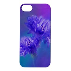 Flowers Cornflower Floral Chic Stylish Purple  Apple Iphone 5s/ Se Hardshell Case by yoursparklingshop