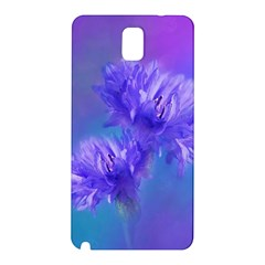 Flowers Cornflower Floral Chic Stylish Purple  Samsung Galaxy Note 3 N9005 Hardshell Back Case by yoursparklingshop