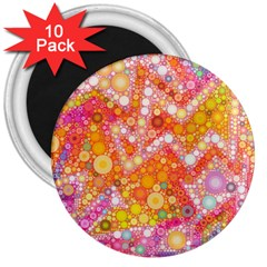 Sunshine Bubbles 3  Magnets (10 Pack)  by KirstenStar