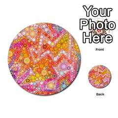 Sunshine Bubbles Multi Purpose Cards (round)  by KirstenStar
