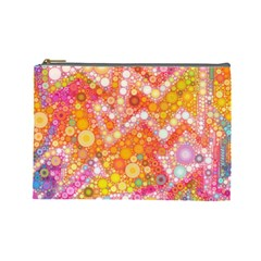 Sunshine Bubbles Cosmetic Bag (large)  by KirstenStar