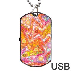 Sunshine Bubbles Dog Tag Usb Flash (one Side) by KirstenStar