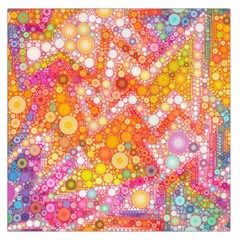 Sunshine Bubbles Large Satin Scarf (square) by KirstenStar