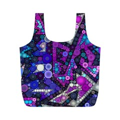 Hipster Bubbes Full Print Recycle Bags (m)  by KirstenStar
