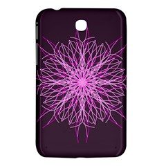 Pink Kaleidoscope Flower Mandala Art Samsung Galaxy Tab 3 (7 ) P3200 Hardshell Case  by yoursparklingshop