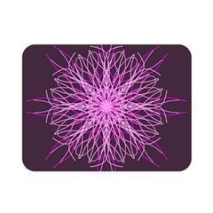 Pink Kaleidoscope Flower Mandala Art Double Sided Flano Blanket (mini)  by yoursparklingshop