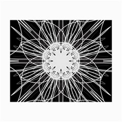 Black And White Flower Mandala Art Kaleidoscope Collage 12  X 18  by yoursparklingshop