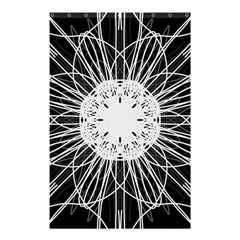 Black And White Flower Mandala Art Kaleidoscope Shower Curtain 48  X 72  (small)  by yoursparklingshop