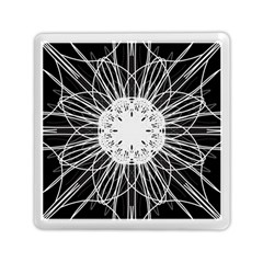 Black And White Flower Mandala Art Kaleidoscope Memory Card Reader (square)  by yoursparklingshop