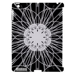 Black And White Flower Mandala Art Kaleidoscope Apple Ipad 3/4 Hardshell Case (compatible With Smart Cover) by yoursparklingshop