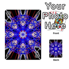Kaleidoscope Flower Mandala Art Black White Red Blue Playing Cards 54 Designs  by yoursparklingshop