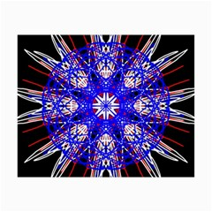 Kaleidoscope Flower Mandala Art Black White Red Blue Collage 12  X 18  by yoursparklingshop