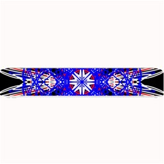 Kaleidoscope Flower Mandala Art Black White Red Blue Small Bar Mats by yoursparklingshop