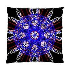 Kaleidoscope Flower Mandala Art Black White Red Blue Standard Cushion Case (two Sides) by yoursparklingshop