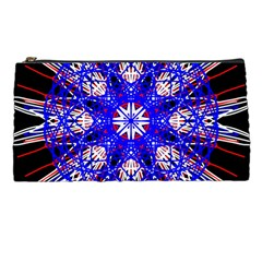 Kaleidoscope Flower Mandala Art Black White Red Blue Pencil Cases by yoursparklingshop