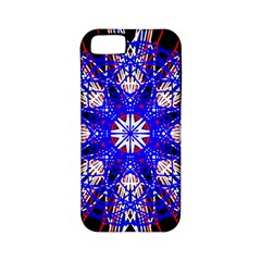 Kaleidoscope Flower Mandala Art Black White Red Blue Apple Iphone 5 Classic Hardshell Case (pc+silicone) by yoursparklingshop