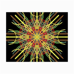 Kaleidoscope Flower Mandala Art Black Yellow Orange Red Collage 12  X 18  by yoursparklingshop