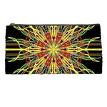 Kaleidoscope Flower Mandala Art Black Yellow Orange Red Pencil Cases Front