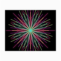 Pink Turquoise Black Star Kaleidoscope Flower Mandala Art Collage 12  X 18  by yoursparklingshop