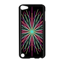 Pink Turquoise Black Star Kaleidoscope Flower Mandala Art Apple Ipod Touch 5 Case (black) by yoursparklingshop