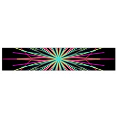 Pink Turquoise Black Star Kaleidoscope Flower Mandala Art Flano Scarf (small) by yoursparklingshop