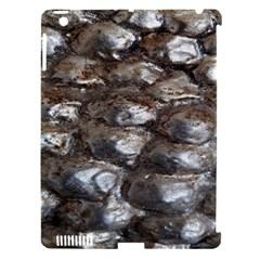 Festive Silver Metallic Abstract Art Apple Ipad 3/4 Hardshell Case (compatible With Smart Cover) by yoursparklingshop