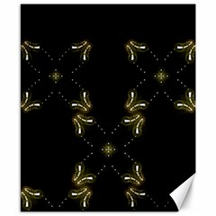 Festive Black Golden Lights  Canvas 8  X 10  by yoursparklingshop