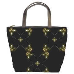 Festive Black Golden Lights  Bucket Bags by yoursparklingshop