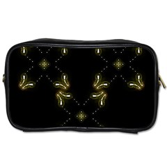 Festive Black Golden Lights  Toiletries Bags by yoursparklingshop