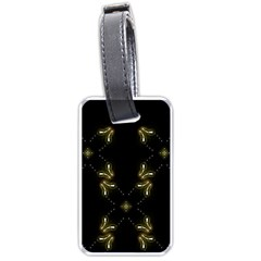 Festive Black Golden Lights  Luggage Tags (one Side)  by yoursparklingshop