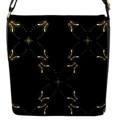 Festive Black Golden Lights  Flap Messenger Bag (s) by yoursparklingshop