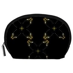 Festive Black Golden Lights  Accessory Pouches (large)  by yoursparklingshop