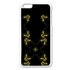 Festive Black Golden Lights  Apple Iphone 6 Plus/6s Plus Enamel White Case by yoursparklingshop