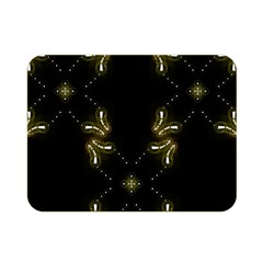 Festive Black Golden Lights  Double Sided Flano Blanket (mini)  by yoursparklingshop