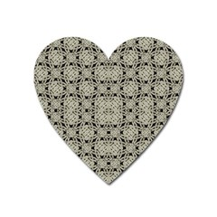 Interlace Arabesque Pattern Heart Magnet by dflcprints