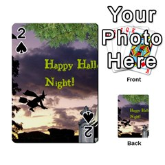 Happy Halloween Night Witch Flying Playing Cards 54 Designs  by canvasngiftshop