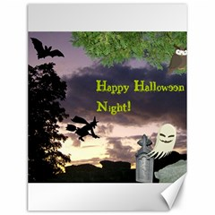 Happy Halloween Night Witch Flying Canvas 12  X 16   by canvasngiftshop