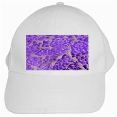 Festive Chic Purple Stone Glitter  White Cap by yoursparklingshop
