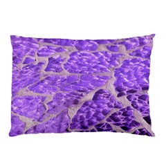 Festive Chic Purple Stone Glitter  Pillow Case by yoursparklingshop