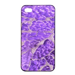 Festive Chic Purple Stone Glitter  Apple Iphone 4/4s Seamless Case (black) by yoursparklingshop