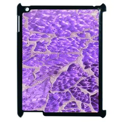 Festive Chic Purple Stone Glitter  Apple Ipad 2 Case (black) by yoursparklingshop