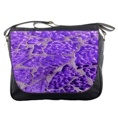 Festive Chic Purple Stone Glitter  Messenger Bags by yoursparklingshop