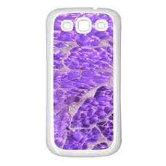 Festive Chic Purple Stone Glitter  Samsung Galaxy S3 Back Case (white) by yoursparklingshop