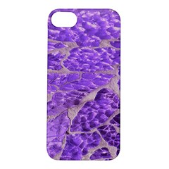 Festive Chic Purple Stone Glitter  Apple Iphone 5s/ Se Hardshell Case by yoursparklingshop