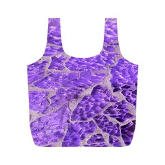 Festive Chic Purple Stone Glitter  Full Print Recycle Bags (m)  by yoursparklingshop