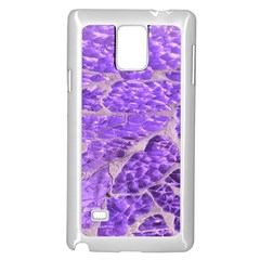 Festive Chic Purple Stone Glitter  Samsung Galaxy Note 4 Case (white) by yoursparklingshop