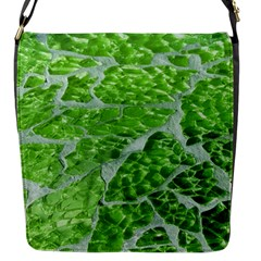 Festive Chic Green Glitter Shiny Glamour Sparkles Flap Messenger Bag (s) by yoursparklingshop