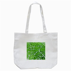Festive Chic Green Glitter Shiny Glamour Sparkles Tote Bag (white) by yoursparklingshop